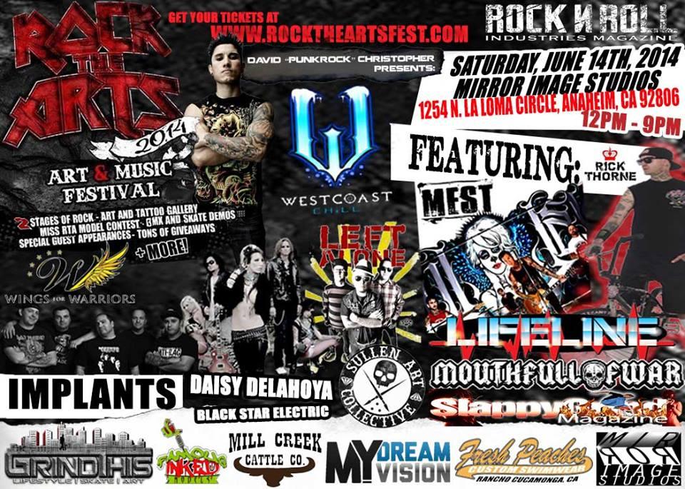 Rock The Arts Flyer 6:2014